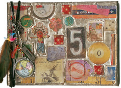 PHOTO ALBUM (Kelly Angard) Tags: collage scrapbook mixedmedia craft swap craftygirl artjournal alteredart kellya mixedmediaart kellyangard thecraftygirl kellyafineartphotography