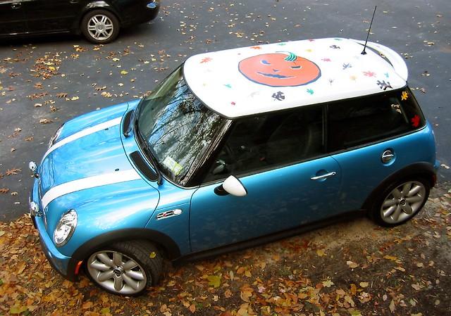 mini cooper roof roofart car halloween costume
