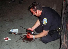 Officer Down (hep) Tags: cop police injury riot policeviolence officerdown