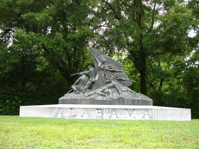 Vicksburg National Cemetery, Alabama Monument
