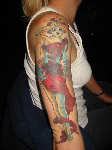Alfonse Mucha tattoo