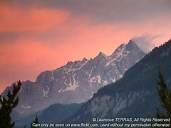 pics (Laurence TERRAS) Tags: red sky sun france alps alpes sunrise europe explore 100views 300views 200views redsky topten queyras ceillac hautesalpes badgesel specnature