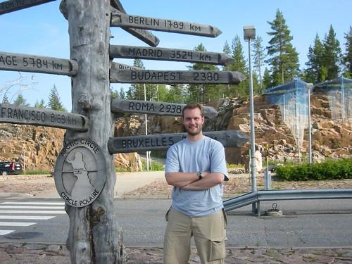 Me at the Arctic Circle