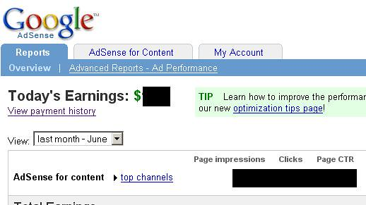 Adsense Interface