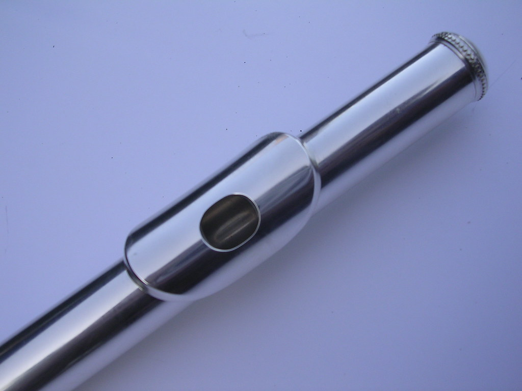 Flute headjoint close-up