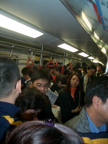 MTR camino a la oficina