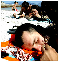 On The Beach (usu*) Tags: summer amigos happy 1x1 cíes