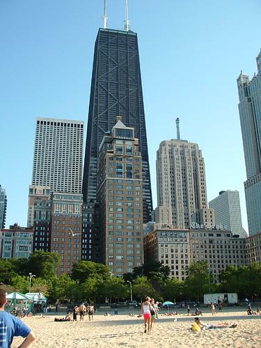 Oak Street Beach: Chicago Skyline View