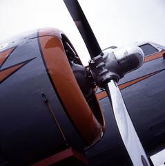 7 (artandscience) Tags: 6x6 film rolleiflex airplane fuji dc3 provia100f 35f arlingtonairshow