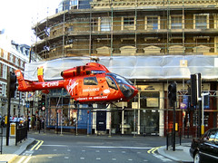 London Air Ambulance (HEMS) at Drury Lane (Steve J) Tags: london documentary ambulance helicopter coventgarden hems londonairambulance mostinterestingnongwl howwearenow