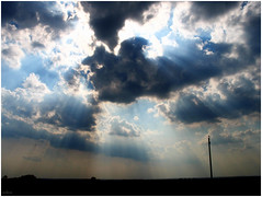 Caught them! (sole) Tags: sky cloud nature clouds heaven hungary sunburst jesusrays