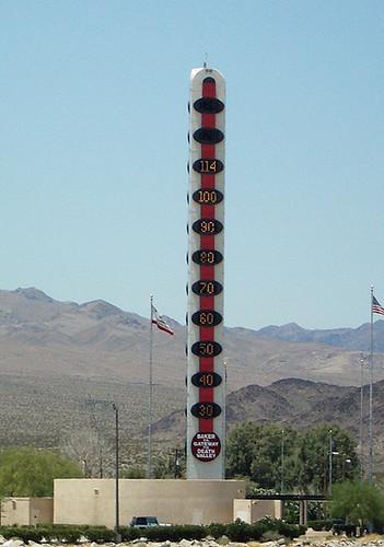 lasvegas baker california thermometer desert