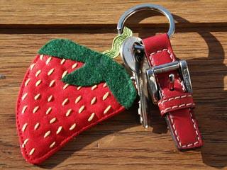 Strawberry Key Fob by niccimae.