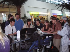 computer science students at the airport