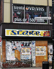 STARE graffiti , Montreal (DawnOne) Tags: 2005 st dawn graffiti photo photos plateau montreal  ad fake july billboard linda stare 2009 hammond stcatherine indyfotocom