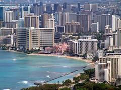 RoyalHawaiian_fromDiamondHead (Ollie girl) Tags: royalhawaiian honolulu waikiki hawaii oahu diamondhead beach