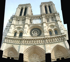 Notre Dame Cathedral, Paris, France (steeev) Tags: autostitch paris france church composite architecture geotagged cathedral notredame montage notre dame eglise notredamecathedral gothicarchitecture gtica steeev geolat48853275 geolon2348794