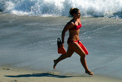 Light-Footed Laguna Beach LifeGuard (EthnoScape) Tags: lagunabeach aliso lifeguard