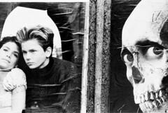 River and Friends (John Ashburne) Tags: street bw monochrome japan poster japanese death skull blackwhite lovers  nippon nihon ashburne  riverphoenix jfajapan johnashburne  phototakeninjapan