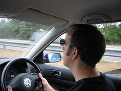 Richard driving