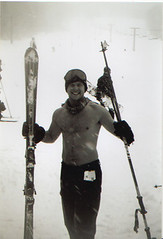 Skiing Shirtless in a Blizzard (Justin Pfister) Tags: justinpfister skiing bioshot shirtless