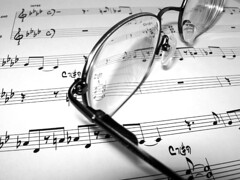 Eyeglasses on Music