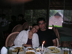 at 3 noon, with a candle (sindhoor) Tags: clouds uttam wyanad vacationjuly2005 raincountryresorts