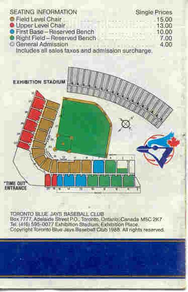 Exhibition Stadium Seating
