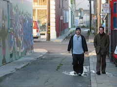 the brothers verras (oneupmanshipwreck) Tags: guido stathis verras alley 2004 sanfrancisco friends
