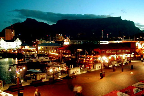 Table mountain at dusk