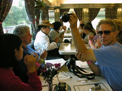 Diner (O Caritas) Tags: 2005 chris people selfportrait newyork reflection me sunglasses jessie festival dinner self mirror jen amy rebecca susan mosh july megan sharon diner laurie tradition musicfestival hillsdale ocaritas nikoncoolpix8800 falconridge frff2005 falconridgefolkfestival frff copyright2011bypatricktpowerallrightsreserved