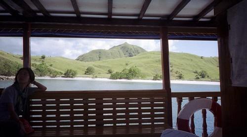 Komodo Island from the boat.