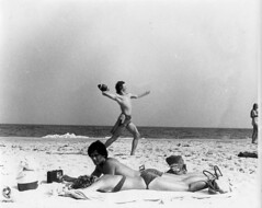 BOYS OF SUMMER PAST (Chuck LaChance) Tags: gay shirtless summer blackandwhite bw sun men beach water naked nude hamptons