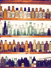 Our Bottle Collection (Colonel Blink) Tags: colonelblink bottles bottle stoneware earthenware glass pottery hamilton codd halfcodd logo vintage antique inks inkbottles medicine collection psp virtualartist