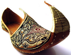 fancy footwear #1 (macca) Tags: shoes dubai footwear uae whiteground pattern design crazyassshoes jewelleryornaments