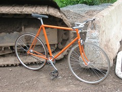 The Streetfighter Single Speed in Orange (sambot) Tags: bike fixed gear single speed orange fixie