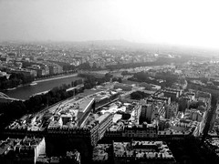Obligatory View from the Eiffel Tower (L_) Tags: bw paris eiffeltower fromabove utataview