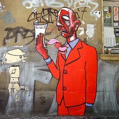 FYC, GOULD (Antonia Schulz) Tags: street city urban streetart berlin cutout town calle paste cit ciudad stadt urbana creatures rue friedrichshain ville afiche gould cartel affiche urbain pancarta fuckyourcrew colle onenightcollective strase criteau ceduln