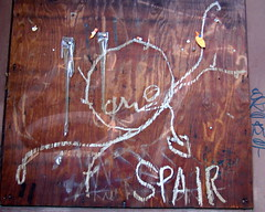 Spair was there (piktorio) Tags: wood berlin monochrome kreuzberg germany graffiti chalk offshore spair monocromatico