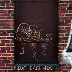 Drunk Kids Rust Away (Matt Niemi) Tags: kids graffiti rust pittsburgh lawrenceville ripkids