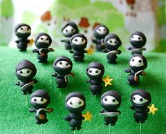 Teensy Ninja Army - by Laurie | Liquid Paper