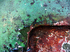 corner (only alice) Tags: old blue red orange brown white green texture rust paint details jade aged portfolio chipped peeled onlyalice