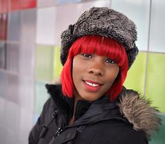 Dana (jeffcbowen) Tags: dana hat hair red street stranger toronto thehumanfamily redhair