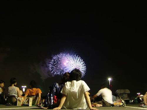 Enjoying the fireworks 1