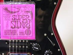 Super Slinky Me (O Caritas) Tags: people selfportrait reflection me electric self mirrorproject guitar michigan lansing strings ocaritas ernieball elderlyinstruments
