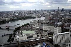 A sunny interlude II - the BIG L (ota dokan) Tags: london uk londoneye cityscape thames barges buildings sky bridges