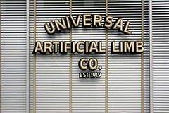universal artificial limb co. est. 1919 (a nameless yeast) Tags: window freeassociation sign typography arms legs body pirate dcist blinds universal extension 1919 silverspring privacy artifice prosthetic pegleg artificiallimb lettresappliques
