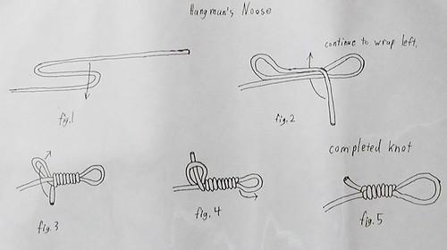 how to tie hangmans noose