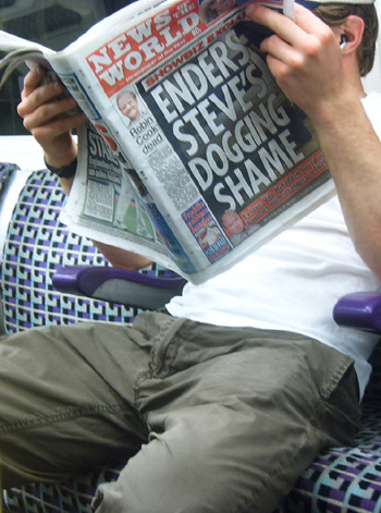 News of the World Headline - EastEnders overshadows Robin Cook's death