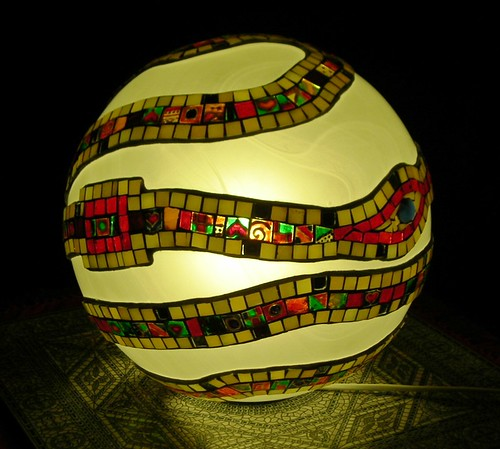 my work, mosaic Spiral Sphere (3)